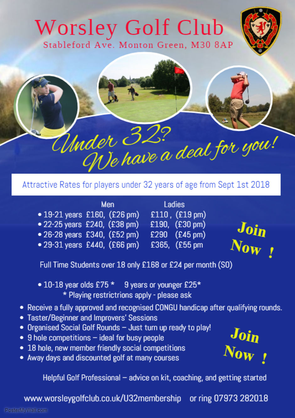 links to poster worsley golf manchester golf salford golf